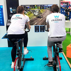 CSE Entertainment cycloBEAT personalised group cycing platform supplied by iActive Tech