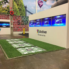4Active fitness gaming platform supplied by iActive Tech