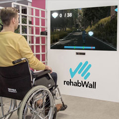 rehabWall reaction wall supplied by iActive Technology